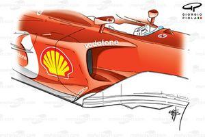 Ferrari F2003-GA sidepods