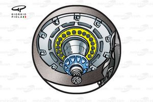 Williams FW25 brake assembly ring gear
