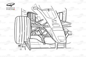 Williams FW21 bargeboard aligned with front wing strake