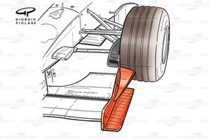 Ferrari F399 front wing endplate and brake duct inlet detail