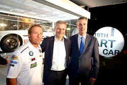Bill Auberlen; Jens Marquardt, BMW Motorsport Director; Ed Bennett, Chief Executive Officer IMSA