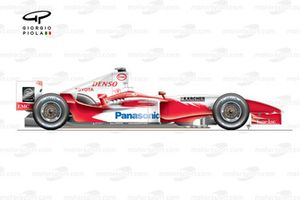 Toyota TF104 2004 side view