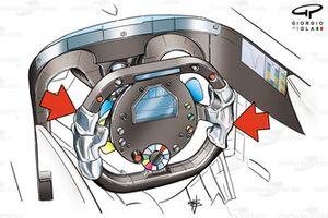 BAR 006 2004 Sato steering wheel