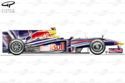 Red Bull RB5 2009 Monaco side view