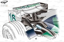 Honda RA108 2008 rear wing