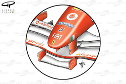 Nez de la Ferrari F2005, à Monaco