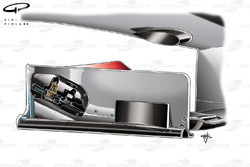 McLaren MP4-24 2009 front wing flap adjuster cutaway view