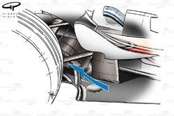 McLaren MP4-23 floor fin