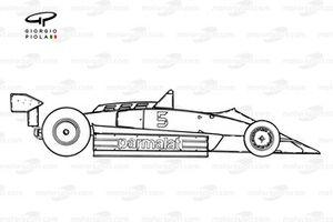 Vue latérale de la Brabham BT49C