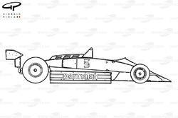 Brabham BT49C 1981 side view