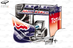 Red Bull RB10 monkey seat, mounted on the lower wedge ordinarily used
