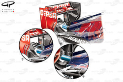 Toro Rosso STR10 rear wing and monkey seat