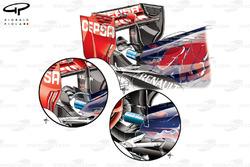 Aileron arrière et monkey seat de la Toro Rosso STR10