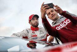 Khalid Al-Qassimi, Citroën World Rally Team with a fan