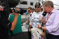 Martin Brundle, Sky TV and Sergio Perez, Sahara Force India