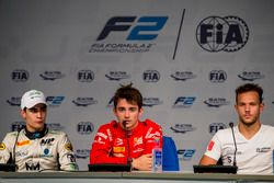 Press Conference: Sergio Sette Camara, MP Motorsport, Charles Leclerc, PREMA Powerteam, Luca Ghiotto