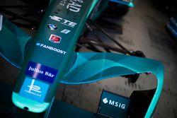 Gros plan sur la monoplace du NIO Formula E Team