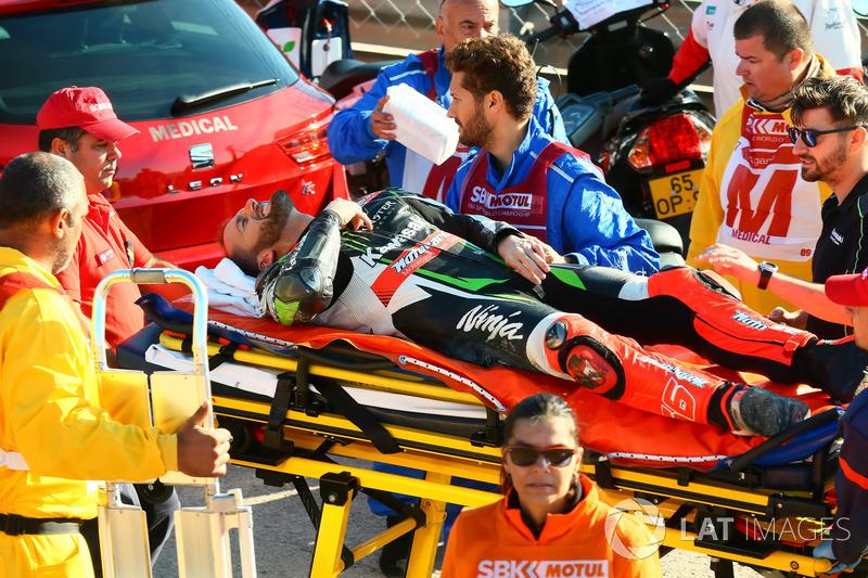Accidente de Tom Sykes, Kawasaki Racing