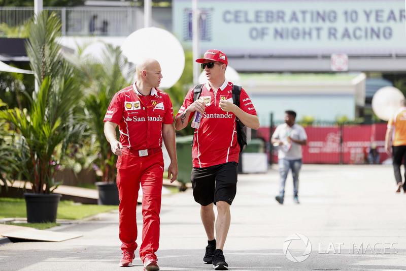 Kimi Raikkonen, Ferrari con Mark Arnall