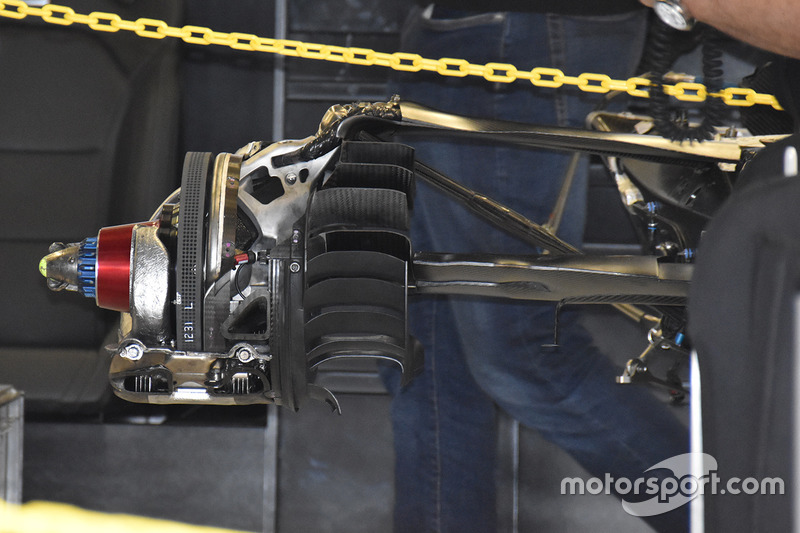 Mercedes AMG F1 W08 rear brake assembly