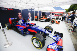 The Scuderia Toro Rosso STR12 on the teams stand