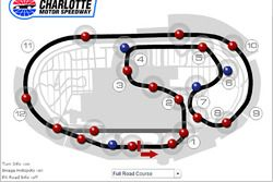 iRacing rendering of Charlotte road course