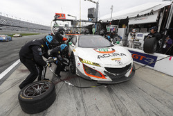 La #93 Michael Shank Racing Acura NSX: Andy Lally, Katherine Legge, Mark Wilkins, Graham Rahal aux stands