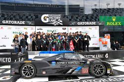 Podium: race winners Ricky Taylor, Jordan Taylor, Max Angelelli, Jeff Gordon, Wayne Taylor Racing