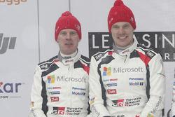 Podium: 2e plaats Jari-Matti Latvala, Miikka Anttila, Toyota Racing