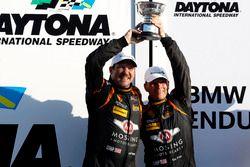 Podio ST: al secondo posto #56 Murillo Racing Porsche Cayman: Jeff Mosing, Eric Foss