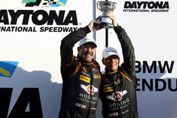Podium ST: second place #56 Murillo Racing Porsche Cayman: Jeff Mosing, Eric Foss