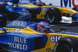 Jenson Button, Renault R202 con su compañero Jarno Trulli