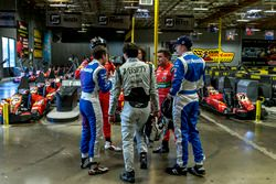 Formula E drivers mix with their simulator-specialist team-mates and rivals