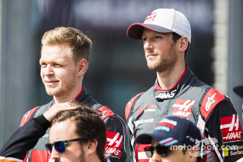 Kevin Magnussen, Haas F1 Team; Romain Grosjean, Haas F1 Team
