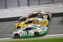 Corey LaJoie, BK Racing Toyota; Landon Cassill, Front Row Motorsports Ford; Cole Whitt, TriStar Moto