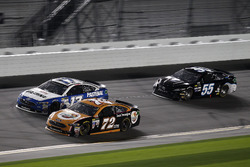 Cole Whitt, TriStar Motorsports Ford; Ty Dillon, Germain Racing Chevrolet; Reed Sorenson, Premium Mo