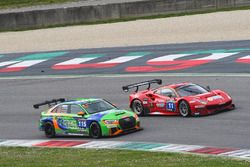 #11 Scuderia Praha, Ferrari 488 GT3: Jiri Pisarik, Josef Král, Matteo Malucelli; #115 Bonk Motorsport, Audi RS3 LMS TCR: Hermann Bock, Max Partl