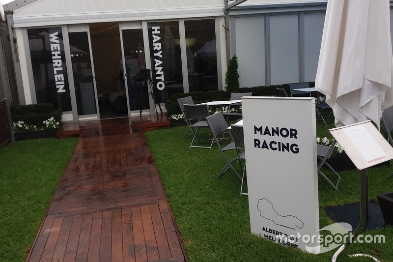 Hospitality area Manor Racing di Albert Park