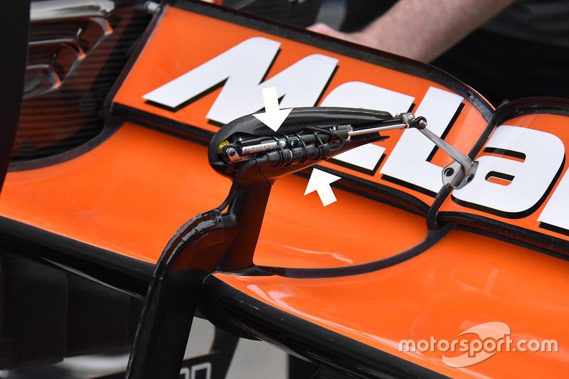 McLaren MCL32: Sensor am Heckflügel