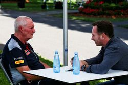John Booth, Scuderia Toro Rosso Director of Racing with Christian Horner, Red Bull Racing Team Principal