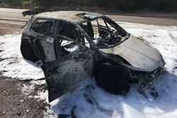 La SKODA Fabia R5 di Nikolay Gryazin a fuoco