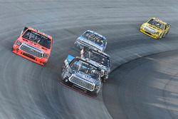 Parker Kligerman, Henderson Motorsports Toyota, Grant Enfinger, ThorSport Racing Toyota