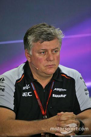 Otmar Szafnauer, Directeur des Opérations Sahara Force India F1 lors de la conférence de presse de la FIA