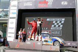 Podium WRC2: winnaars Michel Fabre, Maxime Vilmot