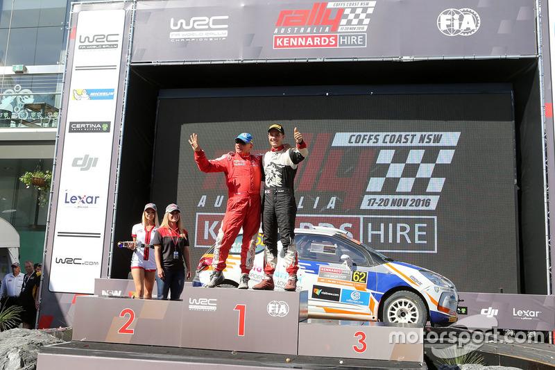 Podium WRC2: ganadores, Michel Fabre, Maxime Vilmot