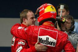 Rubens Barrichello y Michael Schumacher, Ferrari
