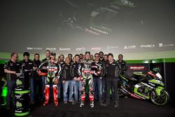 Gruppenfoto: Kawasaki Racing Team