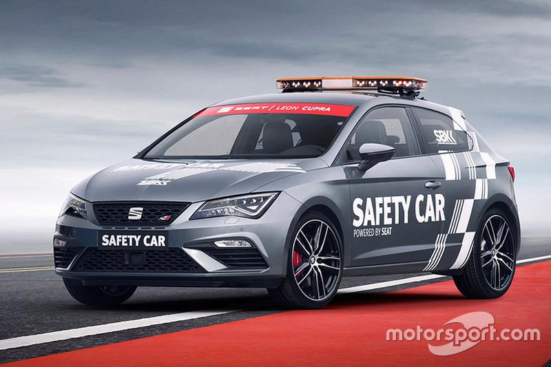 The new Seat Leon Cupra safety car