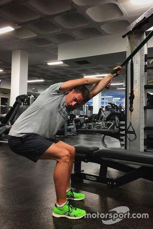 Stoffel Vandoorne entrenando