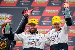 Podium: second place Scott Pye, Walkinshaw Racing, Warren Luff, Walkinshaw Racing